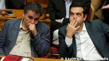 Griechenland Parlament Euclid Tsakalotos und Alexis Tsipras