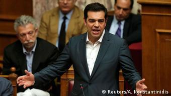 Griechenland Parlament Alexis Tsipras
