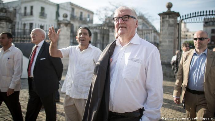 Франк-Вальтер Штайнмаєр під час свого візиту до Куби