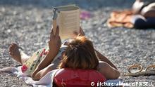 05.07.2015., Croatia, Makarska - Tourists enjoy swimming, sunbathing and sports activities on main beach of Makarska. Photo: Davor Puklavec/PIXSELL