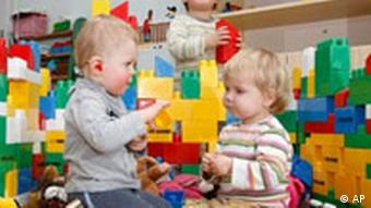 Children play at a pre-school