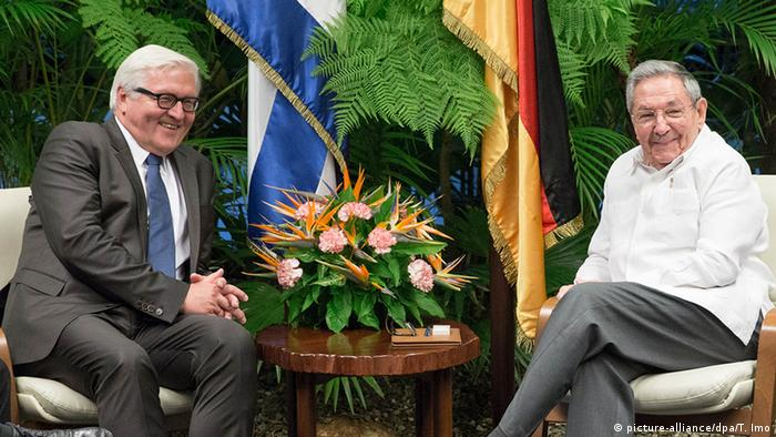 Frank-Walter Steinmeier bei Raul Castro in Havanna