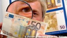 Währung Euro Falschgeld
