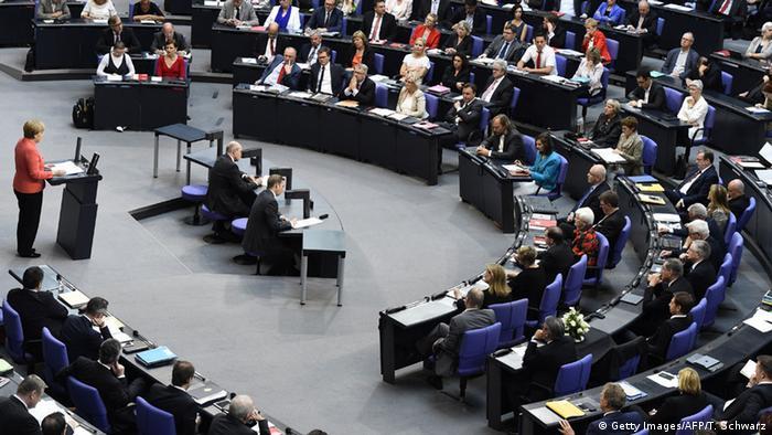 Deutschland Bundestag Sondersitzung Griechenland