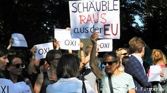 Deutschland Griechenland Bundestag Proteste am Rande der Sondersitzung