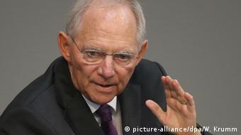 Deutschland Bundestag Sondersitzung Griechenland Wolfgang Schäuble