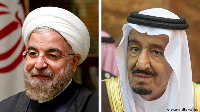 Bildkombo Hassan Ruhani (l) King Salman bin Abdulaziz (r)
