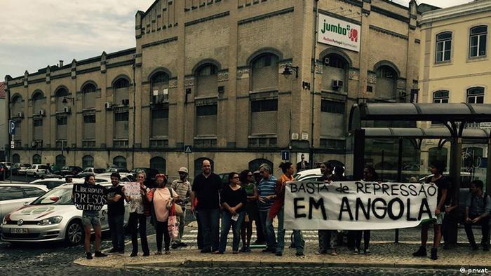 Portugal Protest vor dem Konsulat von Angola in Lissabon