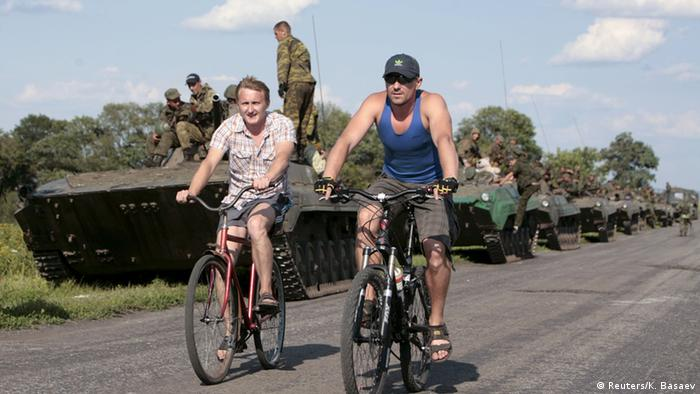 Separatisten kündigen in der Ostukraine Abzug schwerer Waffen an (Foto: REUTERS/Kazbek Basaev)