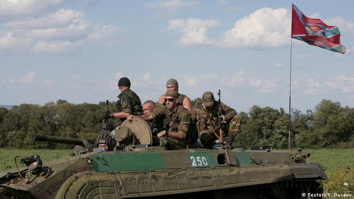 Сепаратисты на танке в Донецкой области, 2015 год