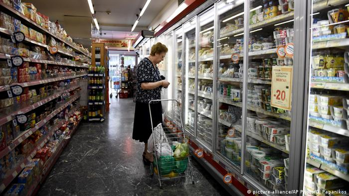 Supermarkt in Thessaloniki (picture-alliance/AP Photo/G. Papanikos)