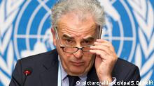 epa02546932 French Michel Kazatchkine, Executive Director of Global Fund, answers reporters questiones about a misuse of funds in several countries, during a new press conference, at the European headquarters of the United Nations in Geneva, Switzerland, 24 January 2011. EPA/SALVATORE DI NOLFI +++(c) dpa - Bildfunk+++