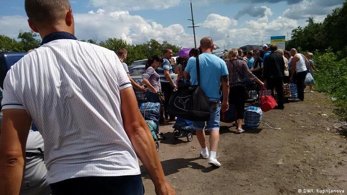На лінії розмежування на Донеччині (липень 2015 року)