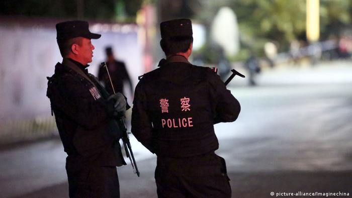 China Polizei Symbolbild (picture-alliance/Imaginechina)