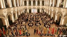 Banquete de gala en el Hotel Atlantic de Hamburgo para celebrar el Día de América Latina 2005.