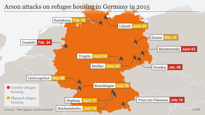 Fanning The Flames Of Hatred Germany DW - Germany map 2015