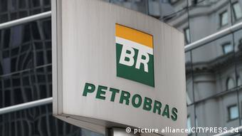 A sign showing the Petrobras logo