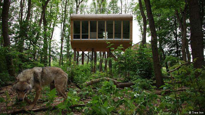 Zehn verrückte Hotels in Deutschland (Bildergalerie) Tree Inn Wolfcenter Dörverden