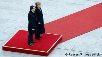 Deutschland Griechenland Ministerpräsident Alexis Tsipras bei Angela Merkel in Berlin