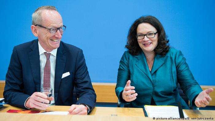 Andrea Nahles and Karl-Thomas Neumann in Berlin