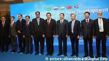 China Shanghai Eröffnung Brics Bank der Schwellenländer