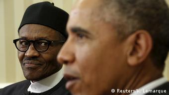USA Muhammadu Buhari and Barack Obama in Washington