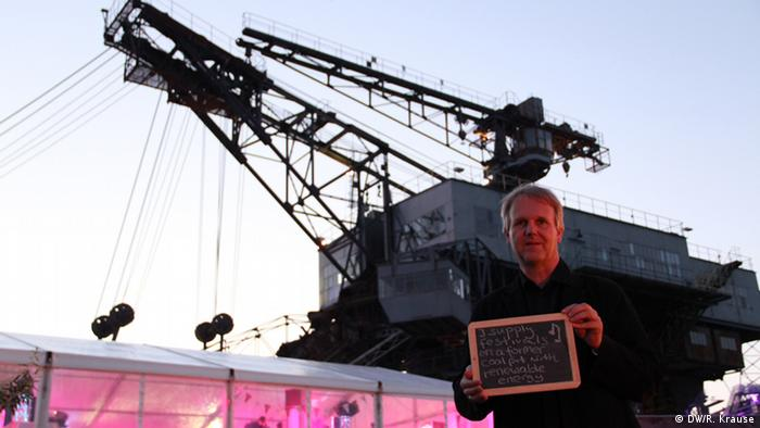 Climate Heroes: Thies Schröder, Ferropolis. I supply festivals on a former coal-pit with renewable energy