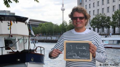 Climate Heroes: Tobias Postulka, Berlin. I build solar boats