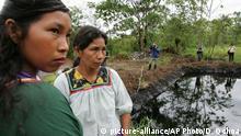Ecuador Öl Verschmutzung Chevron Bohrlöcher Indianer