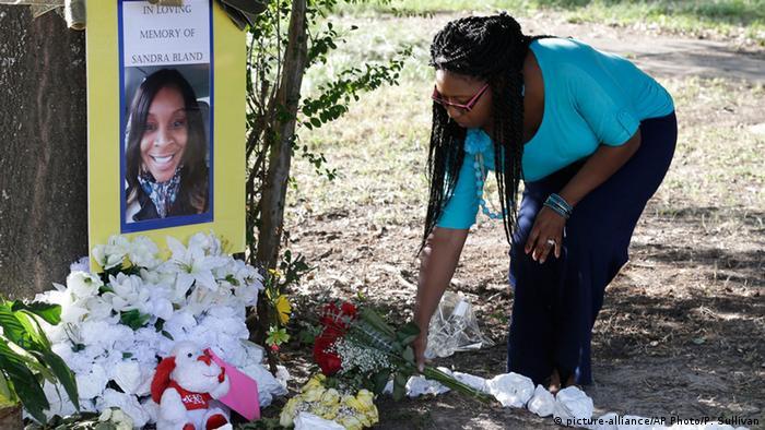 Hommage à Sandra Bland, le 21 juillet 2015 au Texas