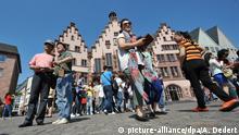 Sightseeing auf dem Römerberg in Frankfurt