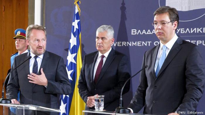 Bakir Izetbegović, Dragan Čović i Aleksandar Vučić