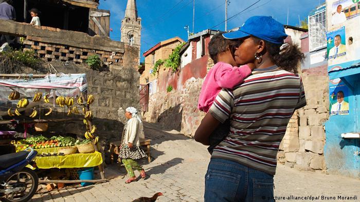 Madagascar Tananarive Markt Straße