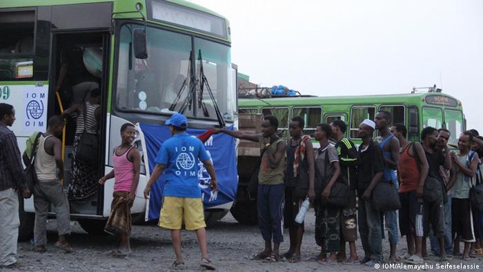 Grenze Dschibuti Äthiopien Flüchtlinge IOM