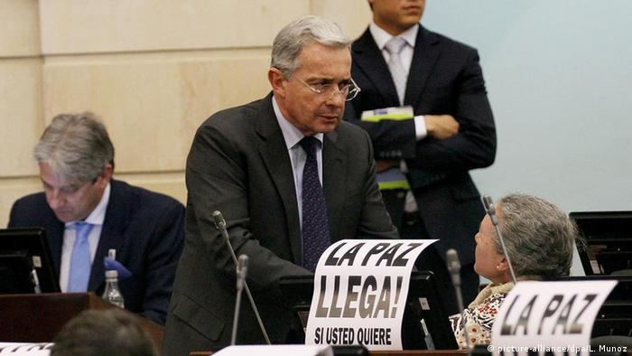 Kolumbianischer Senator Alvaro Uribe