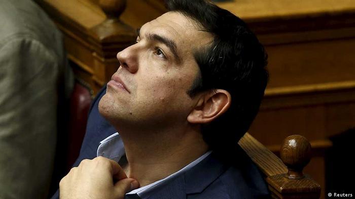 Alexis Tsipras en el Parlamento griego.