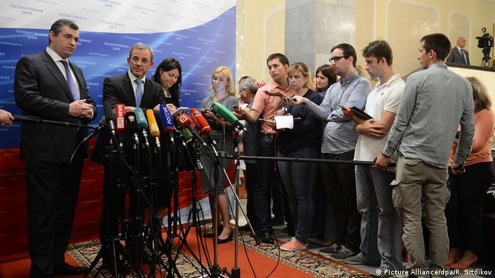 Прес-конференція у Держдумі після зустрічі французьких депутатів з російськими парламентаріями