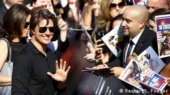 Tom Cruise, seen here at the premiere of Mission Impossible - The Rogue Nation in Vienna, Copyright: REUTERS/Leonhard Foeger