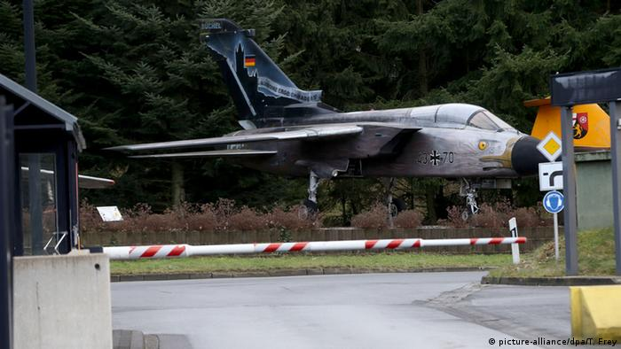A jet at the Büchel air base