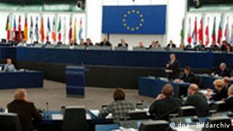 EU Parlament Wolfgang Schüssel in Straßburg