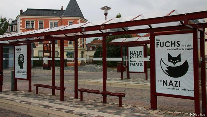Freital Plakataktion gegen Nazis Rechtsradikalismus Fremdenhass