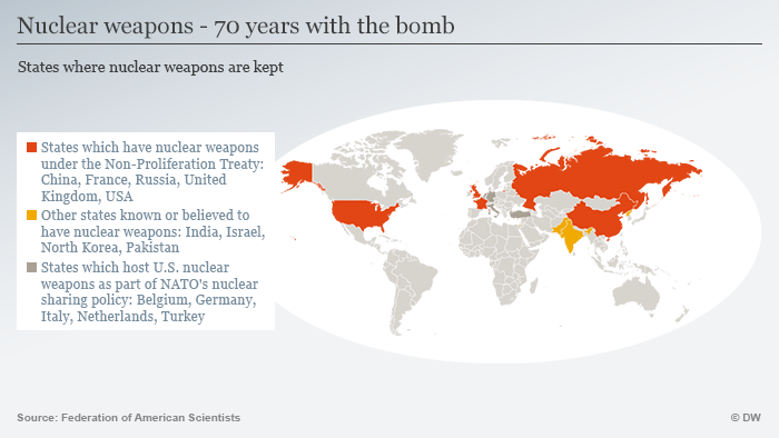 Infografik Atomwaffen 70 Jahre nach Hiroshima englisch