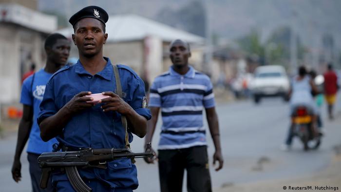Burundian police REUTERS/Mike Hutchings
