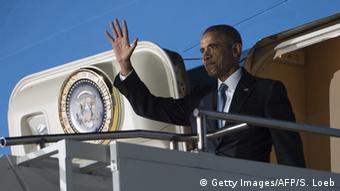Barack Obama kommt am Flughafen in Kenia an
