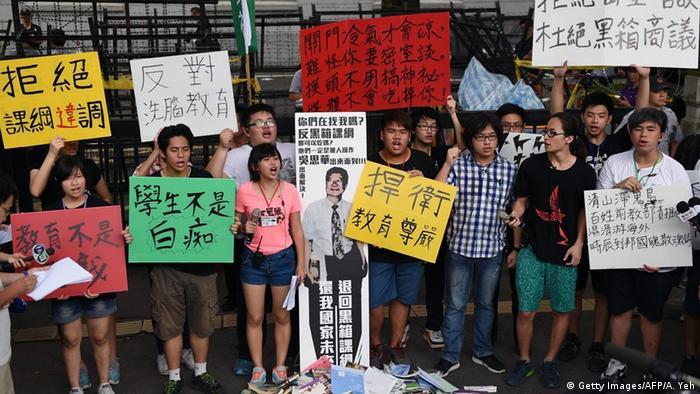 Taiwan Schüler protestieren