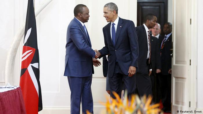 Barack Obama in Kenia mit Präsident Uhuru Kenyatta
