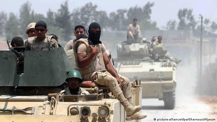 Egyptian troops in Sinai