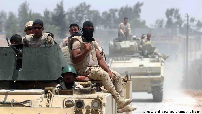 Ägypten Sinai Sicherheit Polizei Terror (picture-alliance/dpa/Gharnousi/Alyoum)
