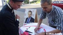 Weißrussland Unterschriftensammlung für Präsidentschafts-Nominierung
