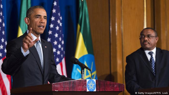 Äthiopien Barack Obama Hailemariam Desalegn PK (SAUL LOEB/AFP/Getty Images)